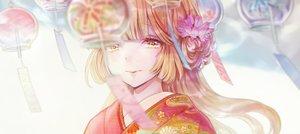 Rating: Safe Score: 31 Tags: asahi_yuuji close flowers japanese_clothes kimono long_hair orange_hair original yellow_eyes User: RyuZU