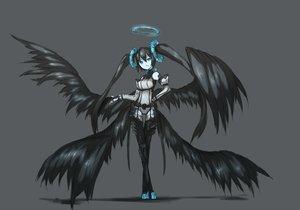Rating: Safe Score: 134 Tags: black_hair blue_eyes ganesagi halo monochrome original tagme wings User: w7382001