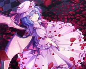 Rating: Safe Score: 42 Tags: kiyu petals remilia_scarlet touhou vampire wings User: Tensa