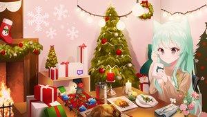 Rating: Safe Score: 28 Tags: animal_ears christmas original re-leaf User: Dreista