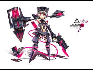 Rating: Safe Score: 219 Tags: anthropomorphism dark_skin gia gun hat original pink_eyes short_hair tail weapon white white_hair User: Tensa