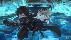 Rating: Safe Score: 42 Tags: armor black_hair blonde_hair gloves kirigaya_kazuto long_hair male short_hair sword sword_art_online thighhighs weapon xiaobanbei_milk yellow_eyes yuuki_asuna User: RyuZU