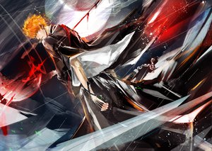 Rating: Safe Score: 169 Tags: all_male bleach kurosaki_ichigo male tagme_(artist) User: HawthorneKitty
