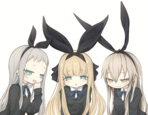 Rating: Safe Score: 63 Tags: anthropomorphism aqua_eyes blend_s blonde_hair bow brown_eyes brown_hair crossover fang gray_hair green_eyes headband kantai_collection kanzaki_hideri long_hair male mononobe_alice naruwe nijisanji school_uniform shimakaze_(kancolle) trap User: otaku_emmy