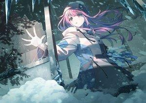 Rating: Safe Score: 64 Tags: blush hat koh_rd long_hair original pink_eyes pink_hair snow User: RyuZU