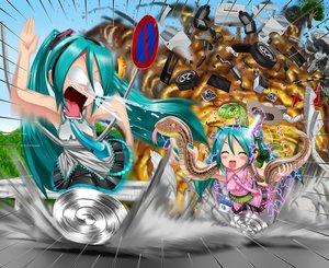 Rating: Safe Score: 33 Tags: animal aqua_eyes aqua_hair hatsune_miku kazu-chan snake twintails vocaloid User: gnarf1975