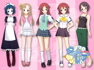 Rating: Safe Score: 18 Tags: blue_eyes blue_hair bow brown_eyes brown_hair glasses headband headdress kneehighs long_hair maid red_eyes red_hair ribbons school_uniform short_hair skirt tie time_leap User: rargy
