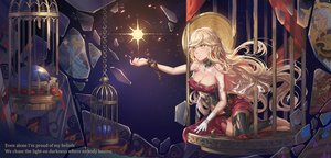 Rating: Safe Score: 52 Tags: angelia_(sdorica) bandage barefoot blonde_hair breasts cage cleavage gloves long_hair saber_01 sdorica_-sunset- thighhighs yellow_eyes User: RyuZU