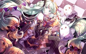 Rating: Safe Score: 30 Tags: arancione halloween hatsune_miku thighhighs vocaloid User: FormX