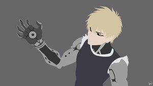 Rating: Safe Score: 11 Tags: all_male blonde_hair genos gray greenmapple17 male onepunch_man polychromatic robot signed silhouette yellow_eyes User: Dummy