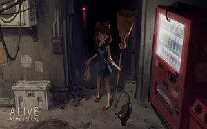 Rating: Safe Score: 47 Tags: animal cat dark drink jiji_(character) kiki majo_no_takkyuubin yusheng User: FormX