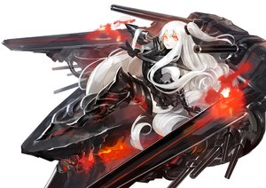 Rating: Safe Score: 106 Tags: aircraft_carrier_oni anthropomorphism fire kantai_collection long_hair orange_eyes pump_(artist) white_hair User: Flandre93