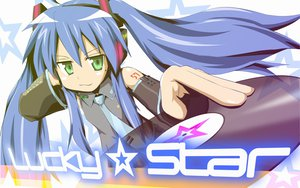 Rating: Safe Score: 44 Tags: cosplay izumi_konata lucky_star parody vocaloid User: 秀悟
