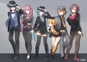 Rating: Safe Score: 45 Tags: blue_eyes blue_hair boots bow brown_eyes brown_hair chain choker gloves group hat hatsune_miku kagamine_len kagamine_rin kaito kneehighs kuroi_(liar-player) long_hair male megurine_luka meiko necklace pantyhose pink_hair ribbons scarf short_hair skirt thighhighs tie twintails vocaloid wristwear User: RyuZU