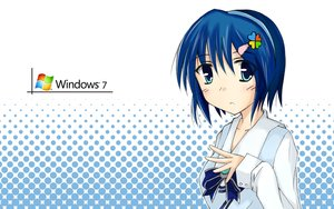 Rating: Safe Score: 6 Tags: aqua_eyes blue_hair bow headband madobe_nanami microsoft os-tan short_hair windows User: Kumacuda