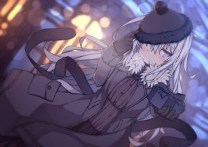 Rating: Safe Score: 38 Tags: abekawa_mochi anthropomorphism blush gray_eyes gray_hair hat hibiki_(kancolle) kantai_collection valentine verniy_(kancolle) User: RyuZU