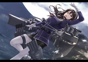 Rating: Safe Score: 66 Tags: anthropomorphism ashigara_(kancolle) breasts brown_hair gloves headband kantai_collection long_hair moon pantyhose rokuwata_tomoe skirt sky stars yellow_eyes User: RyuZU