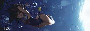 Rating: Safe Score: 103 Tags: animal animal_ears anthropomorphism azur_lane bird breasts bunny_ears i-26_(azur_lane) manjuu_(azur_lane) scan school_swimsuit senji_(tegone_spike) short_hair swimsuit underwater water User: RyuZU