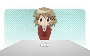 Rating: Safe Score: 30 Tags: blush brown_eyes brown_hair hidamari_sketch seifuku vector yuno User: nanuq