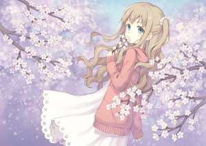 Rating: Safe Score: 29 Tags: 104 blue_eyes brown_hair cherry_blossoms dress flowers hoodie original User: BattlequeenYume