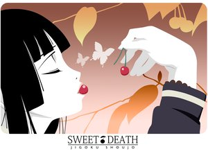 Rating: Safe Score: 11 Tags: black_hair butterfly cherry enma_ai food fruit jigoku_shoujo User: Oyashiro-sama