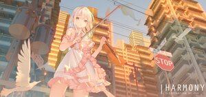 Rating: Safe Score: 57 Tags: animal bird building city cropped dress instrument long_hair original violin watermark white_hair zuu_(qq770463651) User: BattlequeenYume