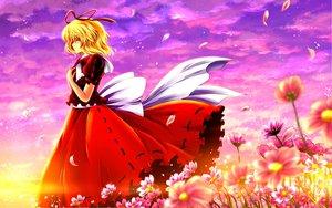 Rating: Safe Score: 38 Tags: blonde_hair clouds flowers medicine_melancholy nekominase touhou User: Zolxys