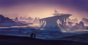 Rating: Safe Score: 158 Tags: jpeg_artifacts kklaji008 landscape original pixiv_fantasia polychromatic purple scenic silhouette sky User: Flandre93