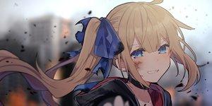 Rating: Safe Score: 81 Tags: anthropomorphism aqua_eyes blonde_hair blush bow choker close fal_(girls_frontline) girls_frontline hoodie ikeuchi_tanuma long_hair ponytail User: otaku_emmy