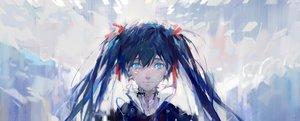 Rating: Safe Score: 65 Tags: aqua_hair blue_eyes hatsune_miku long_hair tang_elen tears twintails vocaloid User: Flandre93