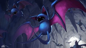 Rating: Safe Score: 9 Tags: nobody pokemon polychromatic supearibu watermark zubat User: otaku_emmy