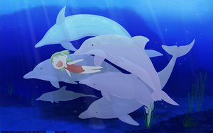 Rating: Safe Score: 24 Tags: animal dolphin koiwai_yotsuba underwater water yotsubato! User: Oyashiro-sama