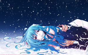 Rating: Safe Score: 52 Tags: blue_hair eretto hinanawi_tenshi long_hair red_eyes snow touhou watermark User: mikucchi