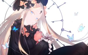 Rating: Safe Score: 47 Tags: abigail_williams_(fate/grand_order) aqua_eyes blonde_hair bow butterfly dress fate/grand_order fate_(series) goth-loli hat loli lolita_fashion long_hair teddy_bear yaku_(ziroken) User: BattlequeenYume