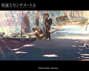 Rating: Safe Score: 48 Tags: animal brown_hair byousoku_5_centimetre cat petals shinkai_makoto shinohara_akari toono_takaki tree User: Oyashiro-sama