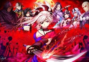 Rating: Safe Score: 57 Tags: ashiya_douman fate/grand_order fate_(series) group houzouin_inshun_(fate/grand_order) male minamoto_no_yorimitsu_(fate) miyamoto_musashi_(fate/grand_order) mochizuki_chiyome sakiyamama shuten_douji_(fate) signed sword tomoe_gozen weapon yagyuu_munenori User: RyuZU