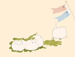 Rating: Safe Score: 17 Tags: animal cat chai_(artist) cropped food leaves nobody original polychromatic signed User: otaku_emmy