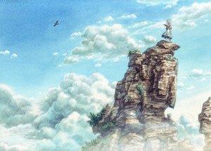 Rating: Safe Score: 95 Tags: animal bird clouds dress esorano original scenic sky User: Freenight