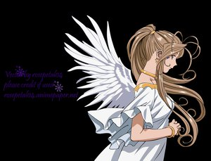 Rating: Safe Score: 49 Tags: aa_megami-sama belldandy blue_eyes brown_hair feathers long_hair transparent vector wings User: Elfengore