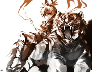 Rating: Safe Score: 35 Tags: animal cofepig tiger toramaru_shou touhou User: w7382001