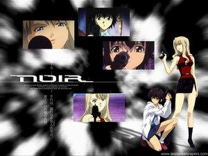 Rating: Safe Score: 3 Tags: black_hair blonde_hair gun mireille_bouquet noir weapon yuumura_kirika User: Oyashiro-sama