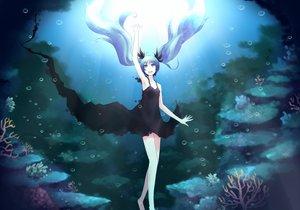 Rating: Safe Score: 50 Tags: bubbles deep-sea_girl_(vocaloid) dress hatsune_miku minato_(shouno) twintails underwater vocaloid water User: HawthorneKitty