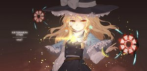 Rating: Safe Score: 39 Tags: blonde_hair braids dress hajin hat kirisame_marisa long_hair microphone stars touhou watermark witch witch_hat yellow_eyes User: mattiasc02
