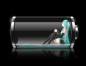 Rating: Safe Score: 277 Tags: aqua_hair black hatsune_miku headphones long_hair nanaku_teiru skirt thighhighs tie twintails vocaloid User: opai