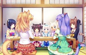 Rating: Safe Score: 48 Tags: animal_ears azuki_(sayori) bicolored_eyes black_hair blonde_hair blue_eyes brown_eyes brown_hair catgirl cat_smile chocola_(sayori) cinnamon_(sayori) coconut_(sayori) game_cg green_eyes group japanese_clothes kimono loli long_hair maple_(sayori) minazuki_shigure nekopara neko_works orange_hair purple_eyes purple_hair sayori school_uniform short_hair tail vanilla_(sayori) white_hair yellow_eyes User: SciFi