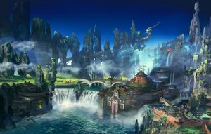 Rating: Safe Score: 98 Tags: building final_fantasy final_fantasy_xiv landscape scenic square_enix tagme_(artist) water waterfall watermark User: SciFi