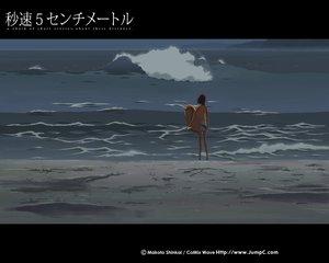 Rating: Safe Score: 11 Tags: beach brown_hair byousoku_5_centimetre shinkai_makoto short_hair shorts sumida_kanae swimsuit User: Oyashiro-sama
