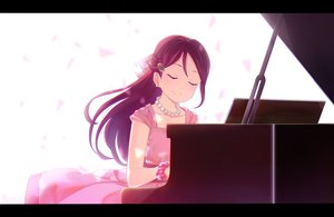 Rating: Safe Score: 33 Tags: dress instrument long_hair love_live!_school_idol_project love_live!_sunshine!! marshall_(wahooo) necklace piano red_hair sakurauchi_riko signed wristwear User: RyuZU