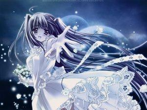 Rating: Safe Score: 30 Tags: blue_hair blush carnelian dress flowers long_hair User: 秀悟
