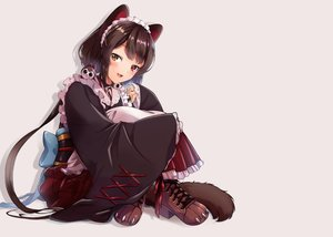 Rating: Safe Score: 38 Tags: animal_ears apron bicolored_eyes blush boots cat_smile collar doggirl fang inui_toko japanese_clothes kimono maid nijisanji spoon_(tamakakama) tail User: otaku_emmy